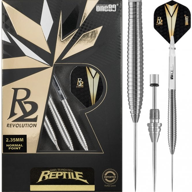 One80  R2 Revolution Darts - Steel Tip Points - Reptile